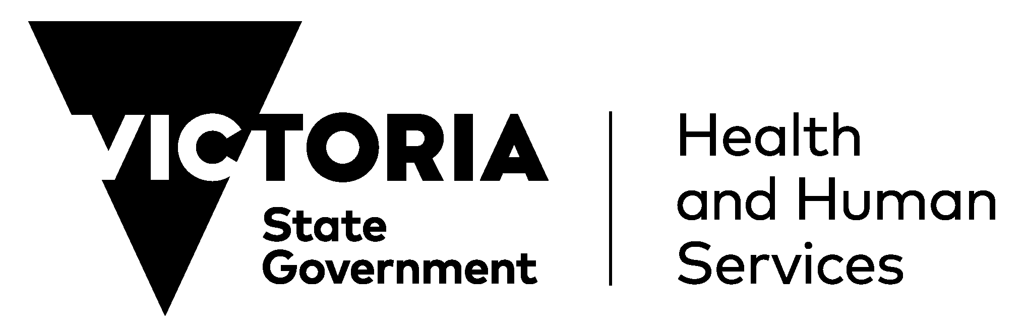 Health and human service of Victoria state government logo
